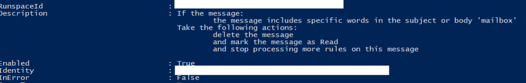 Identifying compromised Office 365 email inboxes - rules 1