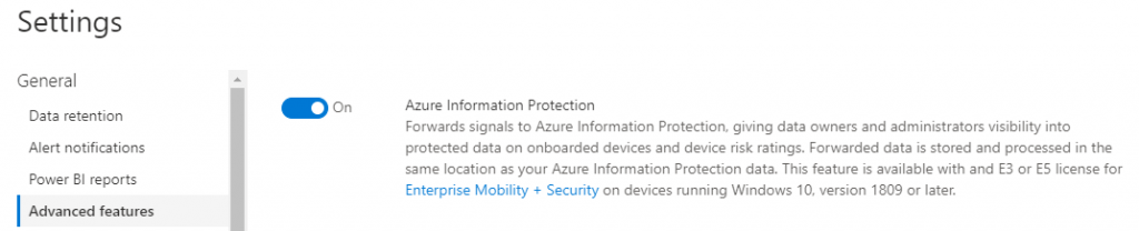 Azure Information Protection Setting Recommendations