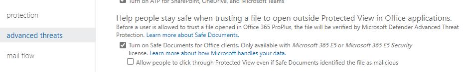 Microsoft 365 E5: Enabling Safe Documents