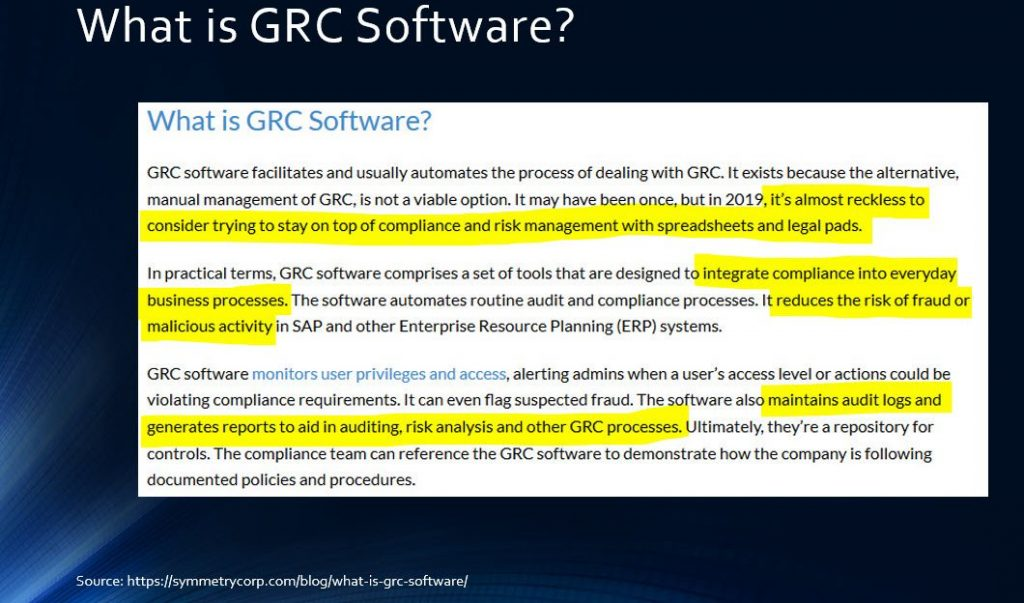 Slide A - What are GRC Solutions?