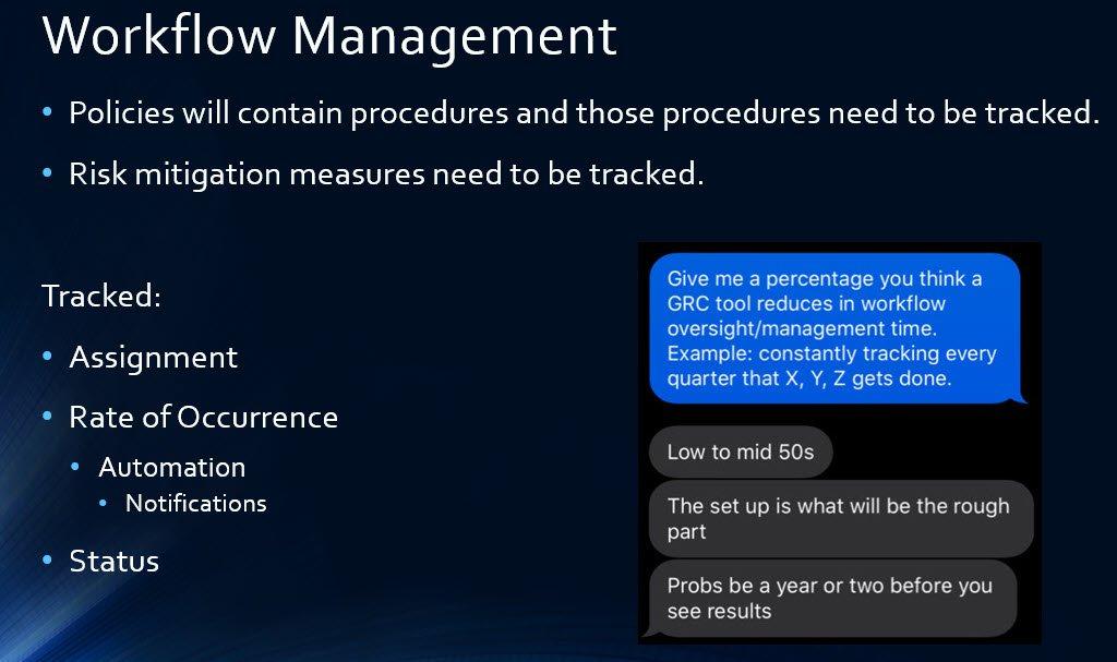 Slide D - GRC Solution Workflow Management