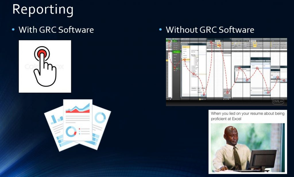 Slide G - Reporting with GRC Solutions