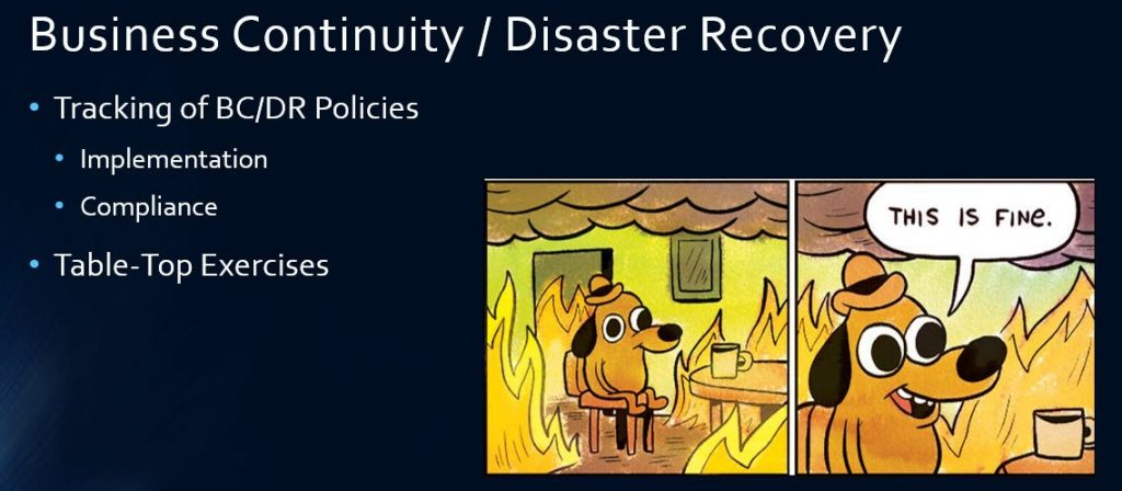 Slide H - Business Continuity and Disaster Recovery